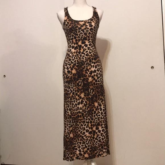 6a09971fe2157 H&M Dresses   Hm Leopard Print Maxi Dress   Poshmark